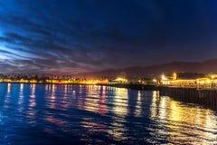 Stearns Wharf in Santa Barbara California Royalty Free Stock Photography
