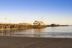 Stearns Wharf in Santa Barbara Stock Photo