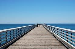 Stearns Wharf - Santa Barbara. Stearns Wharf pier in Santa Barbara, California, clear lines and contrast of colors Stock Photos