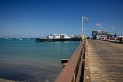 The Stearns Wharf in Santa Barbara Stock Photography