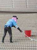 Stears cleanning della donna Immagine Stock Libera da Diritti