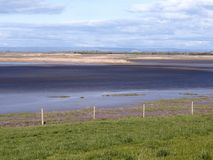 Steart Marshes in Somerset. Steart Marshes, WWT reserve, Somerset, April 2018 Stock Photo