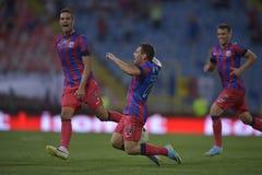 Steaua Bucarest - CFR Cluj, celebrazione di Popa Immagine Stock Libera da Diritti