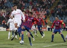 Steaua Bucarest contre Fiorentina images stock