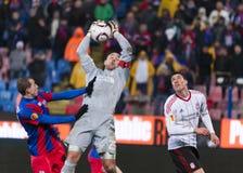 Steaua Bucarest - Liverpool FC (LIGA del EUROPA) Foto de archivo