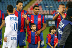 Steaua Bucarest - Pandurii Tg-Jiu Fotos de archivo