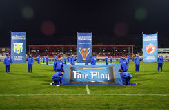 Steaua Bucarest - Pandurii Tg-Jiu Fotos de archivo libres de regalías