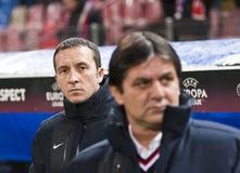 Steaua Bucareste - Liverpool FC (LIGA do EUROPA) Imagens de Stock