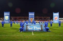 Steaua Bucareste - Pandurii Tg-Jiu Fotos de Stock Royalty Free