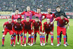 Steaua Bucharest- AEK Larnaca Royaltyfri Foto
