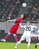 Steaua Bucharest- AEK Larnaca Royalty Free Stock Photo