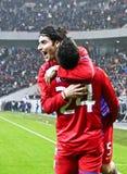 Steaua Bucharest- AEK Larnaca Stock Images