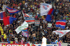 Steaua Bucharest- Aktobe Stock Photo