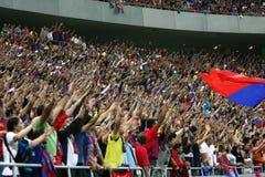 Steaua Bucharest Anhänger Stockbild