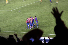 Steaua Bucharest celebrate Royalty Free Stock Photography