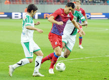 STEAUA BUCHAREST-CONCORDIA CHIAJNA, ROMANIAN LEAGUE 1 Royalty Free Stock Image