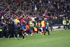 Steaua Bucharest - Dinamo Bucharest Stock Photography