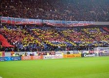 Steaua Bucharest fan wystawiają choreografię Obraz Stock