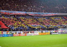Steaua Bucharest fans display a choreography Stock Image