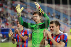 Steaua Bucharest- FC Ceahlaul Piatra Neamt Stock Photo