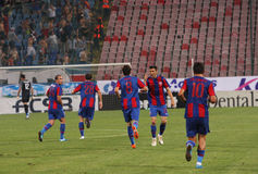 Steaua Bucharest football team Stock Image