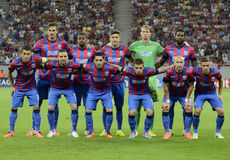 Steaua Bucharest line up Stock Photography