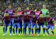 Steaua Bucharest line up Stock Photo