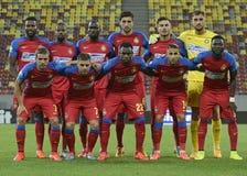 Steaua Bucharest Lineup royaltyfria bilder