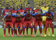 Steaua Bucharest Lineup Royalty Free Stock Images