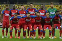 Steaua Bucharest Lineup Stock Image
