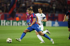 Steaua Bucharest- Ludogorets Razgrad. Alexandru Chipciu fighting for the ball, during the football match between Steaua Bucharest and Ludogorets Razgrad,19th Stock Photography