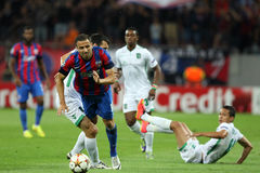 Steaua Bucharest- Ludogorets Razgrad Stock Photo