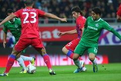 Steaua Bucharest - Maccabi Haifa Royalty Free Stock Photos