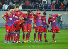 Steaua Bucharest players Royalty Free Stock Images