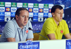 STEAUA BUCHAREST PRESS CONFERENCE Royalty Free Stock Photo