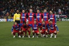 Steaua Bucharest squad. Steaua Bucharest football team - before the start of the match Stock Photography