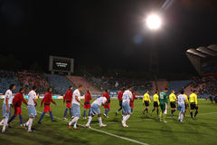 Steaua Bucharest - SSC Napoli match Stock Images