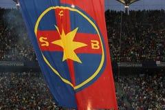 Steaua Bucharest team flag Royalty Free Stock Photo