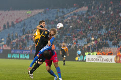 Steaua Bucharest - Utrecht (EUROPA-LIGA) Stockbild