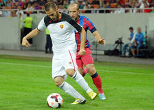 Steaua Bucharest-Vardar Skopje, UEFA Champions League Royalty Free Stock Images
