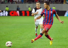 Steaua Bucharest-Vardar Skopje, UEFA Champions League Stock Photo