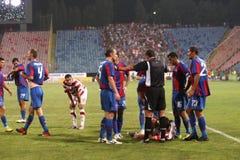 Steaua Bucharest - Victoria Branesti match Royalty Free Stock Photo