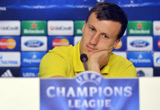 STEAUA BUCHAREST VLAD CHIRICHES PRESS CONFERENCE Royalty Free Stock Image