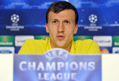 STEAUA BUCHAREST VLAD CHIRICHES PRESS CONFERENCE royalty free stock images