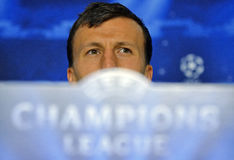 STEAUA BUCHAREST VLAD CHIRICHES PRESS CONFERENCE Stock Photos