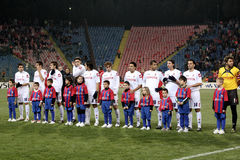 Steaua Bucharest vs Fiorentina Royalty Free Stock Image