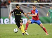 Steaua Bucharest vs Manchester City royaltyfri foto