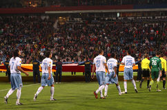 Steaua Bucharest vs. Napoli match Royalty Free Stock Images