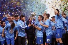 Steaua Bucharest wins Romania's League Cup Stock Photography