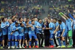 Steaua Bucharest wins Romania's League Cup Royalty Free Stock Photo